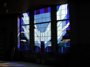 CRC stained glass